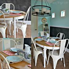 Chairs For Kitchen Table by White Metal Farmhouse Style Chairs For The Kitchen