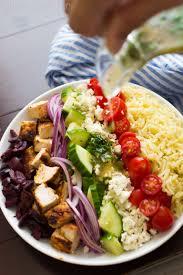 Pasta Salad Ingredients Greek Orzo Pasta Salad With Chicken Little Spice Jar