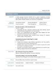 Secretary Resume Sample by Executive Assistant Cv Ctgoodjobs Powered By Career Times