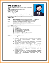 Format Of Resumes Sample Of Resume For Job Application Free Resume Example And