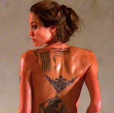 Celebrity Tattoo Regret - Angelina Jolie
