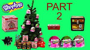holiday surprises part 2 shopkins pusheen minecraft christmas