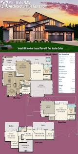 Houses With 2 Master Bedrooms Best 25 Modern House Plans Ideas On Pinterest Modern House