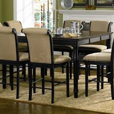 coaster co cabrillo black counter height table with leaf bar