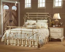 white wrought iron queen bed frame vintage style of wrought iron