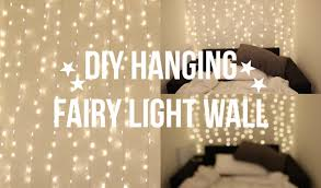 diy fairy light wall youtube