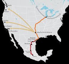 San Luis Potosi Mexico Map by Mexico Freight Shipping Freight Shipping To U0026 From Mexico Bnsf
