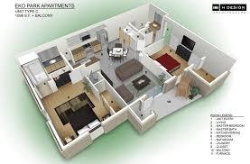 Home Design 3d Ipad Balcony 3d Apartment Design Home Design Excellent 3d Studio Apartment