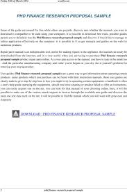 possible guides permit you to definitely test the Phd finance research proposal sample and discover if DocPlayer net