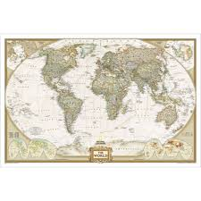 World Map Pinboard by World Executive Wall Map National Geographic Store