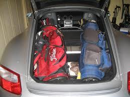 Porsche Boxster Trunk - golf clubs in cayman