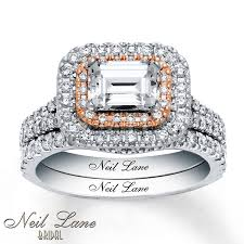 neil lane engagement rings jared neil lane bridal set 1 7 8 ct tw diamonds 14k two tone gold