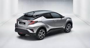 toyota motor car new toyota c hr gets 1 2l turbo 2 0l and 1 8l hybrid powertrains