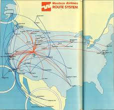 Carrier Route Maps by Western Route Map August 1982 Western Airlines Route Map U2026 Flickr