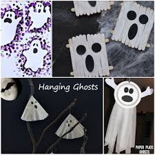 halloween crafts 2015 ghost crafts for kids to do at halloween our little house in the