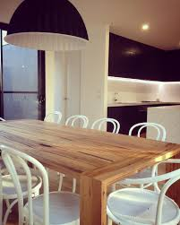 Custom Dining Table With Waterfall Breadboard Ends Made By Bombora - Timber kitchen table