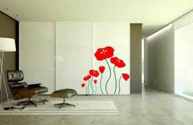 Home Decor Sliding Wardrobe Doors Decorating Sliding Wardrobe Doors With Flower Painting And Brown