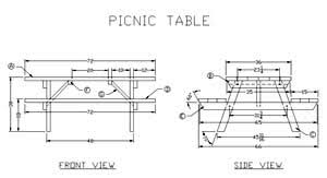 Free Wooden Picnic Table Plans by 32 Free Picnic Table Plans Top 3 Most Awesome Picnic Table Plan