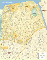 Ninth Ward New Orleans Map by New Orleans French Quarter Tourist Map Maps Low Elevation Coastal