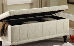 bench wondrous double storage ottoman bench black entertain