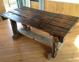 Rustic Dining Table Etsy - Barnwood kitchen table