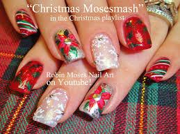 robin moses nail art snowflake nails red nail art christmas