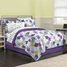 Purple Bed Sets by First At Home Graphic Daisy Bed In A Bag Bedding Set Purple