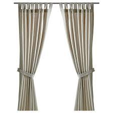lenda curtains with tie backs 1 pair 55x118