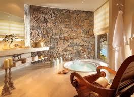 Natural Stone Bathroom Ideas Natural Stone Bathroom Design Ideas Brown Mosaic Ceramic Floor