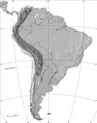 Physical Map Of South America by Physical Map Of South America Showing The Study Areas 1