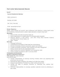 foot locker sales associate resume Good Resume Sample