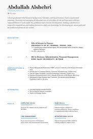 Financial Resume Sample by Finance Resume Samples Visualcv Resume Samples Database