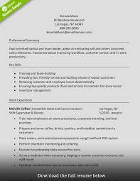 Writing A Summary For Resume How To Write A Perfect Barista Resume Examples Included