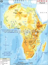 Africa Google Maps by 5 1 I Can Create A Map Of The Major Physical Features In Africa