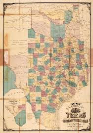 Southwest Colorado Map by Ross U0027 New Connected County U0026 Railroad Map Of Texas And Indian