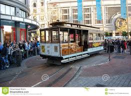San Francisco Cable Car Map by Cable Car On Turntable San Francisco Editorial Stock Photo