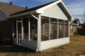 Screen Porch Roof by How To Diy A Screened In Patio For Only 500 Photos Huffpost