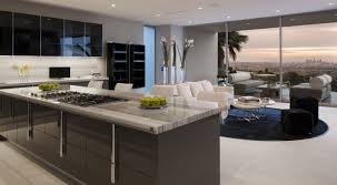 Modern Luxury Kitchen Designs by Modern Luxury Kitchen With Polished Marble Countertop And Dark