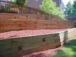 Best Outside Walls Images On Pinterest Wood Retaining Wall - Landscape wall design
