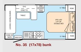 Caravan Floor Plan Layouts Millard Caravans Bunk Van Layouts