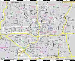 Map Of Downtown Disney Orlando by Streetwise Orlando Map Laminated City Center Street Map Of