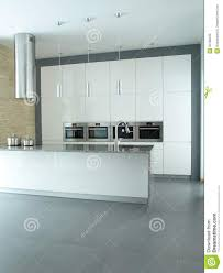 minimalist modern kitchen interior in white royalty free stock