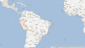 Physical Map Of South America by Physical Map Of Peru