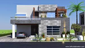 Home Plan Com 3d Front Elevation Com 1 Kanal Contemporary House Plan Design Create