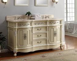 adelina 64 inch antique pastel finish double sink bathroom vanity