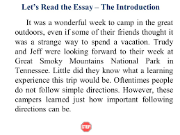 Camping Trip Essay   Camping Trip The first time I had gone to a     Essay Brokers
