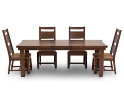 Brown Dining Room Table Bear Creek 5 Pc Dining Room Set Furniture Row