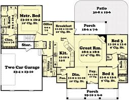 Free Floor Plans For Houses by Country Style House Plan 3 Beds 2 00 Baths 2100 Sq Ft Plan 430 45