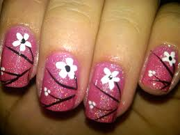 easy nails art design using a toothpick simple flower nail art 20