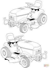 modern tractor coloring page free printable coloring pages